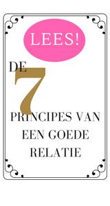de 7 principes van een goede relatie